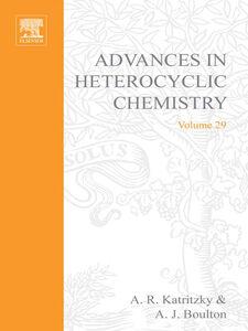 Foto Cover di ADVANCES IN HETEROCYCLIC CHEMISTRY V29, Ebook inglese di  edito da Elsevier Science