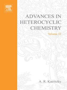 Ebook in inglese ADVANCES IN HETEROCYCLIC CHEMISTRY V33 -, -