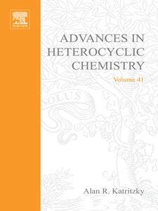 Foto Cover di ADVANCES IN HETEROCYCLIC CHEMISTRY V41, Ebook inglese di  edito da Elsevier Science