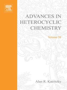 Foto Cover di ADVANCES IN HETEROCYCLIC CHEMISTRY V58, Ebook inglese di  edito da Elsevier Science