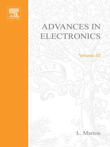 Ebook in inglese ADVANCES ELECTRONC &ELECTRON PHYSICS V3 -, -