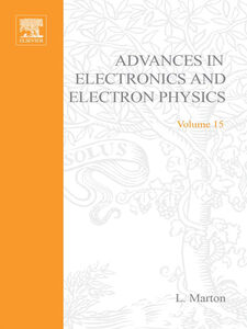 Ebook in inglese ADVANCES ELECTRONC &ELECTRON PHYSICS V15 -, -