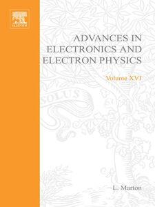 Foto Cover di ADVANCES ELECTRONC &ELECTRON PHYSICS V16, Ebook inglese di  edito da Elsevier Science