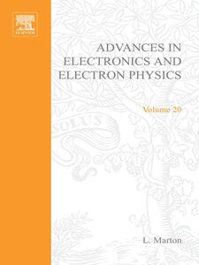 Ebook in inglese ADVANCES ELECTRONC &ELECTRON PHYSICS V20