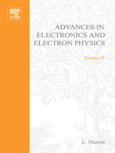 Ebook in inglese ADVANCES ELECTRONC &ELECTRON PHYSICS V23 -, -