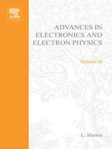 Ebook in inglese ADVANCES ELECTRONC &ELECTRON PHYSICS V36