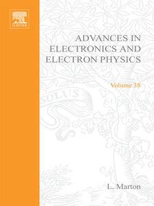 Ebook in inglese ADVANCES ELECTRONC &ELECTRON PHYSICS V38 -, -