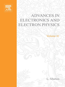 Ebook in inglese ADVANCES ELECTRONC &ELECTRON PHYSICS V41 -, -