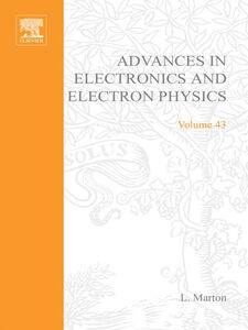 Foto Cover di ADVANCES ELECTRONC &ELECTRON PHYSICS V43, Ebook inglese di  edito da Elsevier Science