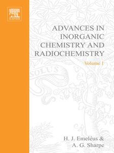 Foto Cover di ADVANCES IN INORGANIC CHEMISTRY AND RADIOCHEMISTRY VOL 1, Ebook inglese di  edito da Elsevier Science