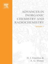 ADVANCES IN INORGANIC CHEMISTRY AND RADIOCHEMISTRY VOL 1