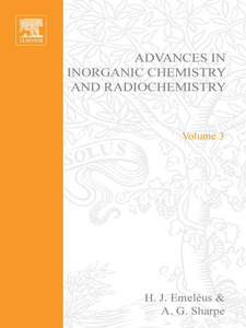 Ebook in inglese ADVANCES IN INORGANIC CHEMISTRY AND RADIOCHEMISTRY VOL 3 -, -