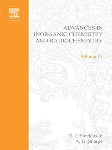 Foto Cover di ADVANCES IN INORGANIC CHEMISTRY AND RADIOCHEMISTRY VOL 15, Ebook inglese di  edito da Elsevier Science