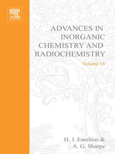 Foto Cover di ADVANCES IN INORGANIC CHEMISTRY AND RADIOCHEMISTRY VOL 16, Ebook inglese di  edito da Elsevier Science