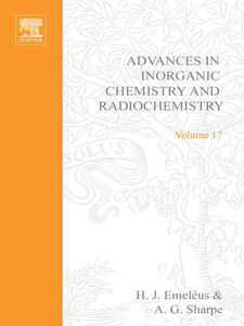 Ebook in inglese ADVANCES IN INORGANIC CHEMISTRY AND RADIOCHEMISTRY VOL 17 -, -