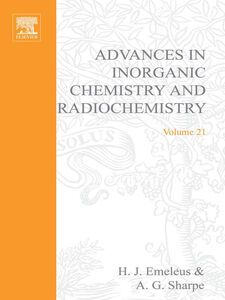 Foto Cover di ADVANCES IN INORGANIC CHEMISTRY AND RADIOCHEMISTRY VOL 21, Ebook inglese di  edito da Elsevier Science