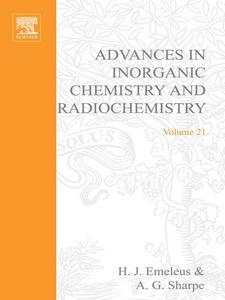 Ebook in inglese ADVANCES IN INORGANIC CHEMISTRY AND RADIOCHEMISTRY VOL 21 -, -