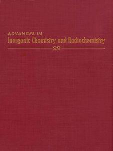 Ebook in inglese ADVANCES IN INORGANIC CHEMISTRY VOL 29