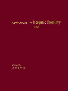 Ebook in inglese ADVANCES IN INORGANIC CHEMISTRY VOL 32 -, -