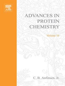 Ebook in inglese ADVANCES IN PROTEIN CHEMISTRY VOL 16