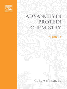 Ebook in inglese ADVANCES IN PROTEIN CHEMISTRY VOL 16 -, -