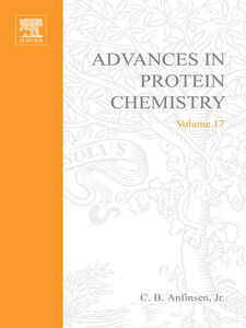 Ebook in inglese ADVANCES IN PROTEIN CHEMISTRY VOL 17 -, -