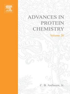 Ebook in inglese ADVANCES IN PROTEIN CHEMISTRY VOL 20