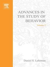 ADVANCES IN THE STUDY OF BEHAVIOR VOL 2