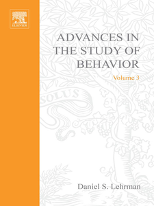 Ebook in inglese ADVANCES IN THE STUDY OF BEHAVIOR VOL 3 -, -