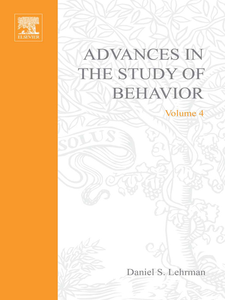 Ebook in inglese ADVANCES IN THE STUDY OF BEHAVIOR VOL 4 -, -