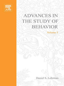Ebook in inglese ADVANCES IN THE STUDY OF BEHAVIOR VOL 5