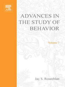 Foto Cover di ADVANCES IN THE STUDY OF BEHAVIOR VOL 7, Ebook inglese di  edito da Elsevier Science