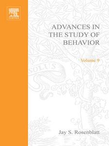 Ebook in inglese ADVANCES IN THE STUDY OF BEHAVIOR VOL 9 -, -