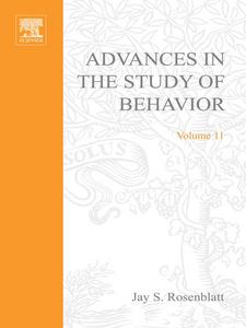 Ebook in inglese ADVANCES IN THE STUDY OF BEHAVIOR V 11 -, -