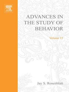 Ebook in inglese ADVANCES IN THE STUDY OF BEHAVIOR V 15