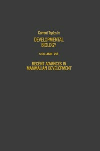 Ebook in inglese CURRENT TOPICS DEVELOPMENTAL BIOLOGY V23 -, -