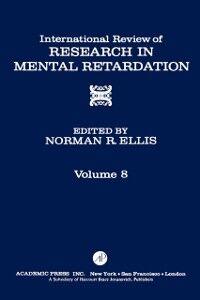 Ebook in inglese INT'L REV OF RESRCH IN MENTL RETARDTN V8 -, -