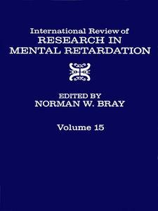 Ebook in inglese INT'L REV OF RESRC IN MENTL RETARDTN V15 -, -