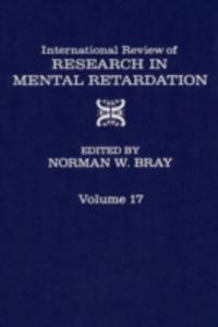 Ebook in inglese INT'L REV OF RESRC IN MENTL RETARDTN V17 -, -