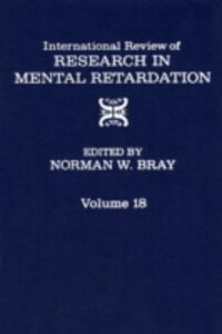 Ebook in inglese International Review of Research in Mental Retardation