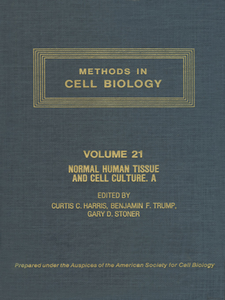 Ebook in inglese METHODS IN CELL BIOLOGY,VOLUME 21A -, -