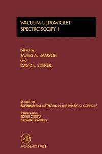 Foto Cover di Vacuum Ultraviolet Spectroscopy I, Ebook inglese di  edito da Elsevier Science