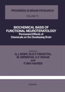 Ebook in inglese BIOCHEMICAL BASIS OF FUNCTIONAL NEUROTERATOLOGY -, -