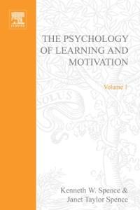 Ebook in inglese PSYCHOLOGY OF LEARNING&MOTIVATION:V.1 -, -