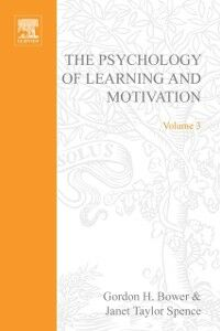 Ebook in inglese PSYCHOLOGY OF LEARNING&MOTIVATION:V.3