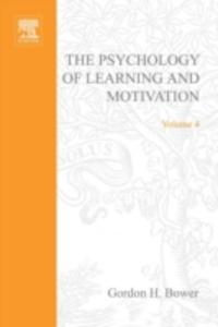 Ebook in inglese PSYCHOLOGY OF LEARNING&MOTIVATION:V.4 -, -