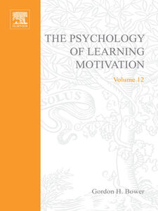 Ebook in inglese PSYCHOLOGY OF LEARNING&MOTIVATION -, -