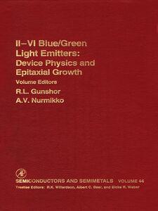 Ebook in inglese Ii-Vi Semiconductor Blue/Green Light Emitters