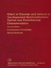 Effect of Disorder and Defects in Ion-Implanted Semiconductors