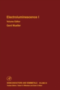 Ebook in inglese Electroluminescence I -, -